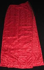 Shiny Red Plain Skirt