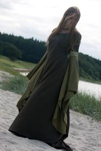 Grünes Mittelalterkleid