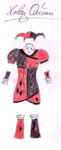 Harley Quinn Entwurf