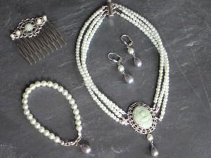Jadegrünes Perlen Set