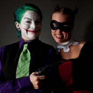 Harley mit ihrem Joker