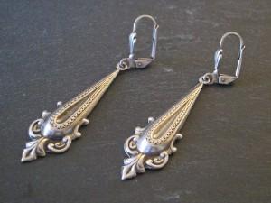 Silberne Gothic Ohrringe