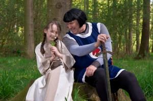 Prinz Eisenherz mit seiner Tochter