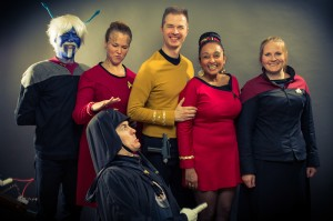 Lord Maul photobombt Star Trek Gruppenbild