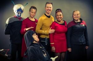 Lord Maul photobombt Star Trek Gruppenbild