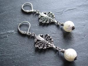 White Roses Ohrringe