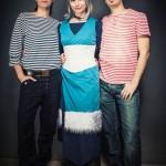 Kya und zwei Seeleute