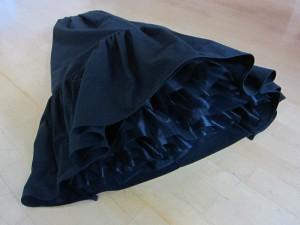 Petticoat auf dem Boden liegend