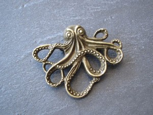 Oktopus Brosche