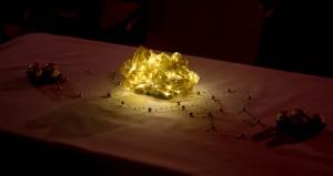 Lichtbukett als Tischdeko