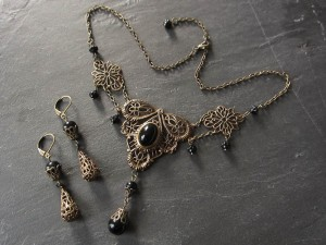 Great Victorian Onyx Set