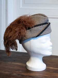 Garrison Cap with Feathers