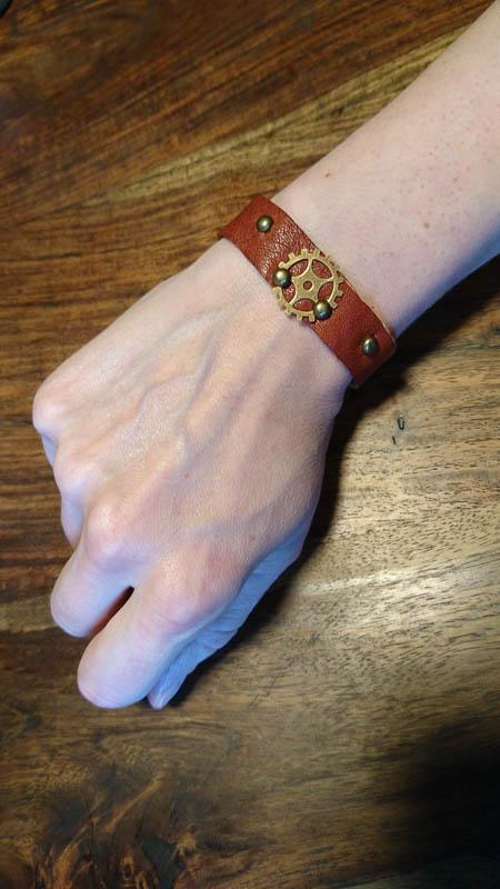 Zahnrad Leder Armband
